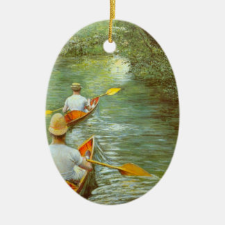 Die Kanus, Perissoires durch Gustave Caillebotte Keramik Ornament
