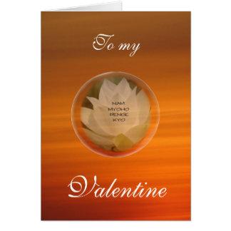 Die Karte buddhistischen Valentinsgrußes