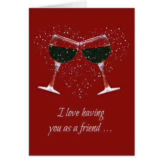 Die Karte des Spaß-Freundschafts-Wein-Liebhabers