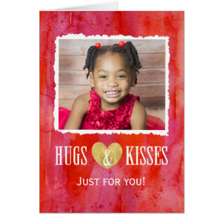 Die Karte des Umarmungs-und Kuss-Valentinsgrußes