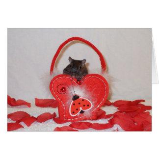 Die Karte eines Gerbil-Valentinsgrußes