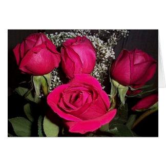 Die Karte Rosen-Blumenstraußvalentines (großer
