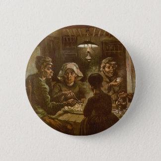 Die Kartoffel-Esser durch Vincent van Gogh Runder Button 5,7 Cm
