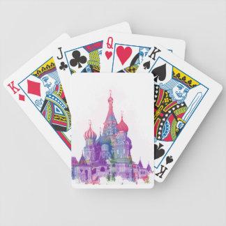 Die Kathedrale Moskau des Heilig-Basilikums Bicycle Spielkarten