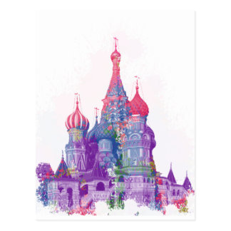 Die Kathedrale Moskau des Heilig-Basilikums Postkarte
