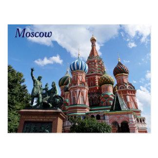 Die Kathedralen-Roter Platz Moskau Russland des Postkarte