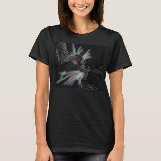Die Katze der Frauen mit glühendem Bart-T - Shirt
