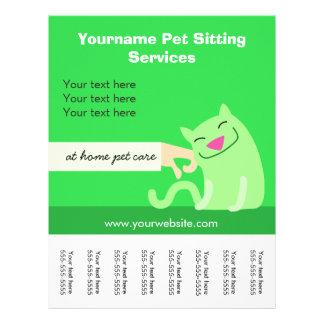 Die Katze des Haustier-Modells Flyer-grün 21,6 X 27,9 Cm Flyer