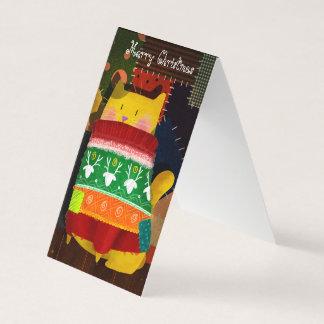 Die Katze in der hässlichen Strickjacke Karte