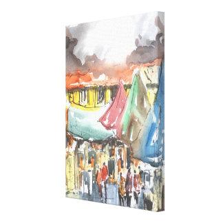 """""""Die Käufer-"""" Kunst auf Leinwand"""