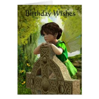 Die keltische feenhafte Geburtstags-Karte Grußkarte
