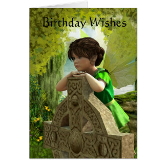 Die keltische feenhafte Geburtstags-Karte Karte