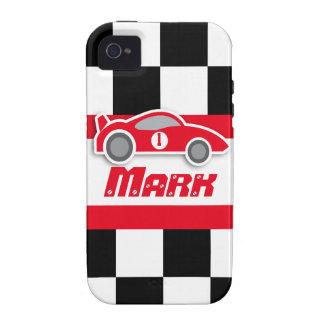 Die Kinder, die rotes Sportauto laufen, nannten Case-Mate iPhone 4 Hüllen