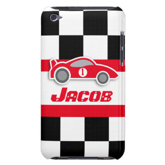 Die Kinder, die rotes Sportauto laufen, nannten iP Barely There iPod Case