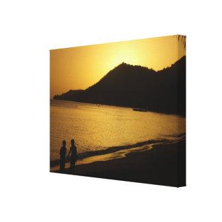 Die Kindheits-Erinnerungen eines Sonnenuntergangs Leinwanddruck