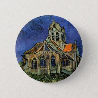 Die Kirche bei Auvers durch Vincent van Gogh Runder Button 5,7 Cm