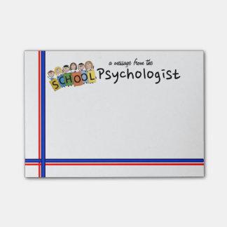 Die klebrigen Anmerkungen des SCHULEpsychologen Post-it Haftnotiz