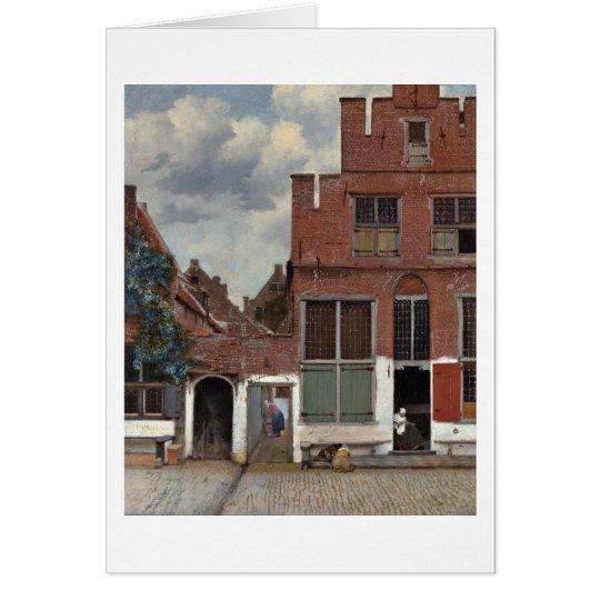 Die kleine Straße durch Johannes Vermeer Karte