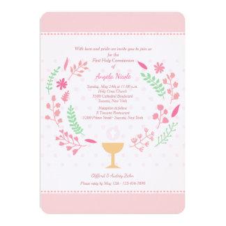 Die Kommunions-Einladung des Mädchens 12,7 X 17,8 Cm Einladungskarte