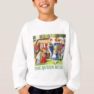 Die Königin der Herzen erklärt Alice, den Sweatshirt