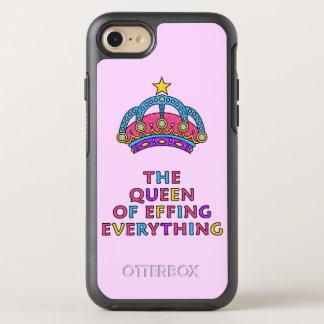 Die Königin von Effing alles Rosa-Glitzer OtterBox Symmetry iPhone 8/7 Hülle