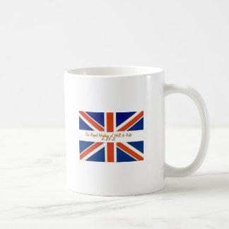 Die königliche Hochzeit von Willens- und Kaffeetasse