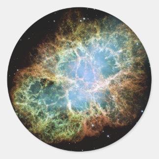 Die Krabben-Nebelfleck-Supernova NASA Runder Aufkleber