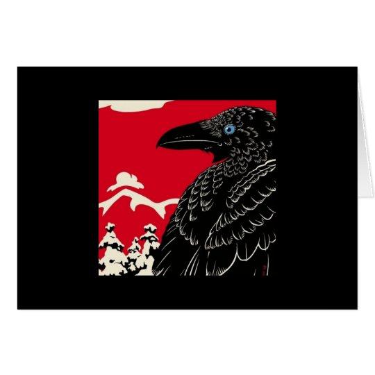 Die Krähe Mitteilungskarte