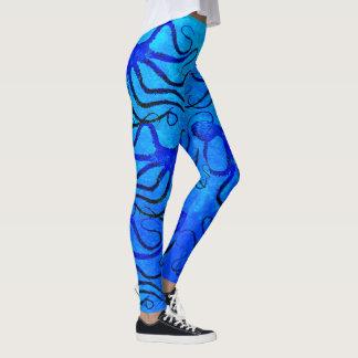 Die Kraken-Blau des Amys auf Blau - Gamaschen Leggings