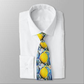 Die Krawatte der lila u. gelben stachelige