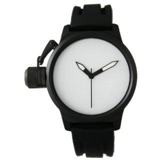 Die Kronen-Schutz-Schwarz-Gummibügel-Uhr der Handuhr