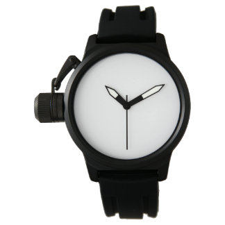 Die Kronen-Schutz-Schwarz-Gummibügel-Uhr der Uhr