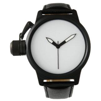 Die Kronen-Schutz-Schwarz-Lederband-Uhr der Männer Armbanduhr