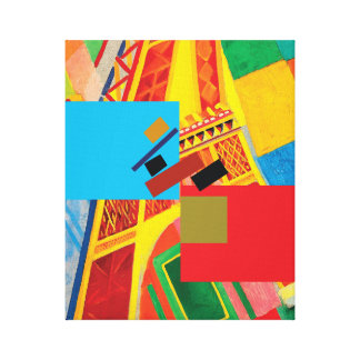 Die Kunst der Balance (Suprematism u. Eiffelturm) Leinwanddruck