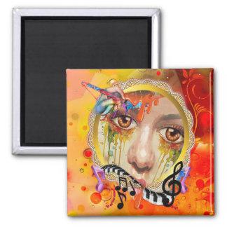 Die Künstlerpalette Quadratischer Magnet