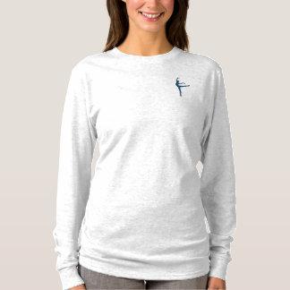 Die Lang-Hülse der Frauen hellgrauer T - Shirt