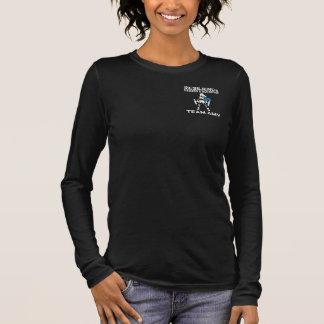 Die lange Hülse 2 der Teamamy-Frauen Langarm T-Shirt