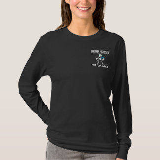 Die lange Hülse der Teamamy-Frauen T-Shirt