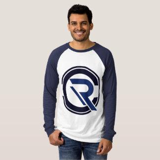 Die lange Hülseblauer Raglan-T - Shirt