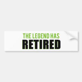 Die Legende hat sich zurückgezogen Autoaufkleber