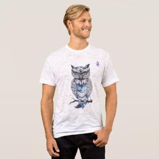 Die Leinwandangepasster Burnout-Eulen-T - Shirt
