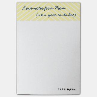 Die Liebe-Anmerkungen der Mammas |, das Post-it Klebezettel