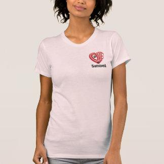 Die Liebe der T - Shirt-Frauen mein Samoyed T-Shirt