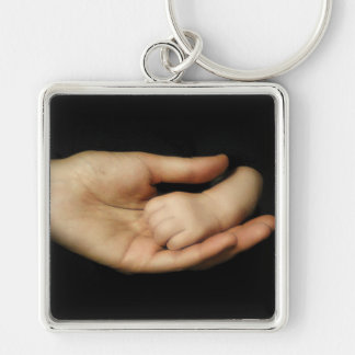 Die Liebe einer Mutter Silberfarbener Quadratischer Schlüsselanhänger
