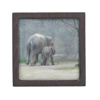 Die Liebe-Elefant-Prämien-Geschenkboxen der Mutter Schmuckkiste