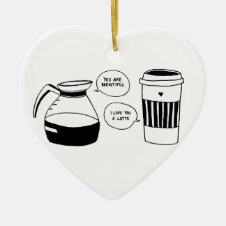 Die Liebe Kaffee Latte Valentines Keramik Ornament