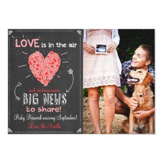 Die Liebe-Schwangerschaft des Valentines decken 12,7 X 17,8 Cm Einladungskarte
