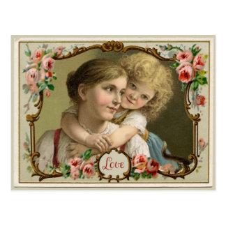 Die Liebe-Vintage Wiedergabe-Postkarte einer Postkarte