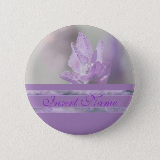 Die lila Lavendel-Blume, die | wedding ist, Runder Button 5,7 Cm
