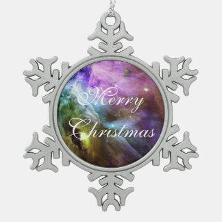 Die lila NASA Wirbel Orions-Nebelflecks Schneeflocken Zinn-Ornament